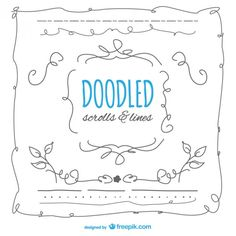 Free doodles scrolls