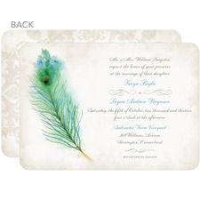 Collection of available peacock feather wedding invitations in a variety of styles and colors featuring peacock feather plumes. Peacock Wedding Invitations, Personalised Wedding Invitations, Vintage Wedding Invitations, Personalized Wedding, Indian Invitations, Bachelorette Invitations, Wedding Stationary, Wedding Programs, Wedding Cards