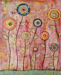 mixed media encore, quilt inspiration. Try this design in felt