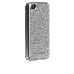 silver glitter iPhone case!! $40. the glitter is contained under a lacquer coating so no worries about glitter getting everywhere!
