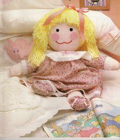 Шитье милой куколки из текстиля / / В рукоделии