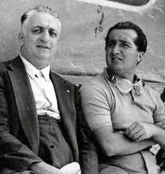 Enzo Ferrari (a sinistra) e suo figlio Dino.
