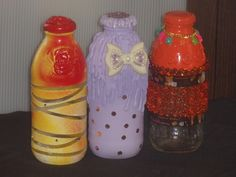 """My recycled """"snapple"""" bottles"""