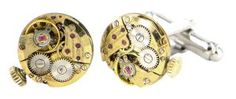 Gold BCD Winder re-purposed watch cufflinks
