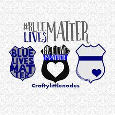 Blue Lives Matter Police Badge Set SVG STUDIO by CraftyLittleNodes