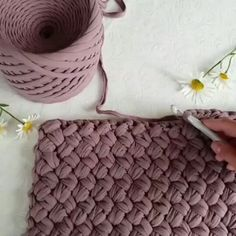 """Wikkel - or traditional Estonian knitting pattern. We also call this pattern """"me . Crochet Hooded Scarf, Bag Crochet, Crochet Basket Pattern, Knit Basket, Crochet Stitches, Knitting Yarn, Knitting Patterns, Crochet Patterns, Knitting Needles"""