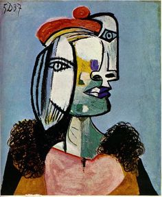 """Pablo Picasso, (Spanish, 1881 - 1973), """"Untitled"""". Oil on canvas, 61 x 50 cm. """"Go and do the things you can't. That is how you get to do them."""" - Pablo Picasso"""