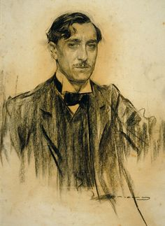 """art-and-things-of-beauty: """" Another serie of portraits by Ramon Casas i Carbó """" Spanish Painters, Spanish Artists, Fine Art Drawing, Figure Drawing, Ramones, Pencil Art Drawings, Art Sketches, Modernisme, Human Art"""