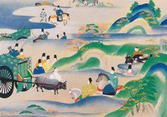 国宝源氏物語絵巻  五島美術館(Goto Museum)  Men dressed in kariginu
