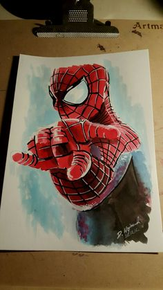 spiderman painting paint watercolour art movie sketch drawing