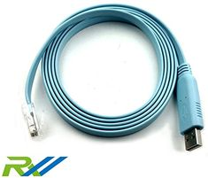 RoutersWholesale - FTDI USB Console Cable USB to RJ45 Cable Essential Accesory of Cisco (1 Pack) #RoutersWholesale #FTDI #Console #Cable #Essential #Accesory #Cisco #Pack)