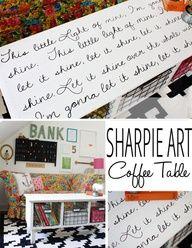 Sharpie Art Coffee Table