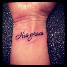 Starting a family tradition with this tattoo! So many of us have grace as our middle name!