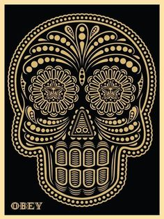 Buy your own Shepard Fairey digital art skull. This Shepard Fairey obey giant skull comes with a certificate of authenticity. Add Shepard Fairey to Your collection Today Illustration Photo, Illustrations, Skull Illustration, Art Obey, Omg Posters, Shepard Fairey Obey, Silkscreen, Day Of The Dead Art, Mexican Skulls