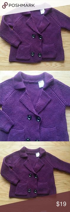 NWT Knitted Sweater, dark purple Adorable and beautiful sweater in dark purple with buttons.  Very pretty.  This item is brand new and never used Leighton Alexander  Shirts & Tops Sweaters