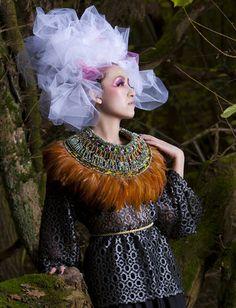Edra Feather Neck Piece on Forest Model Shoot  Anita Quansah London/Nigeria $2,275.00