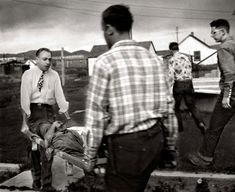 Manning the Stretcher by W. Eugene Smith/TIME & LIFE Pictures The doctor helps a rancher carry his son into the hospital. The inebriated young man dislocated his elbow when he was thrown from a bronco at a rodeo. Doctor Help, Doctor In, Okinawa, Eugene Smith, Pittsburgh City, New Hospital, Medical Careers, American Country, Life Pictures