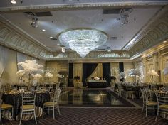 An Open House at Paradise Banquet Hall in Vaughan - EventSource.ca Blog Love this black and gold decor
