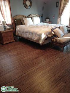 Beautiful Mocha eucalyptus flooring for the bedroom