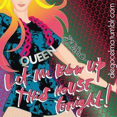 Bitch I'm Madonna! #bitchimmadonna #rebelheart #rebelheartbitches #illustration #video #art #queenofpop #pop #music #drawing #Madonna #NikiMinaj #Diplo #teaser https://www.facebook.com/diegocelmailustrador