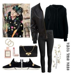 """""""Suga Gitl YNWA"""" by awakewithu on Polyvore featuring Unravel, LE3NO, Giuseppe Zanotti, Chanel, Lipstick Queen, Gucci and Pier 1 Imports"""