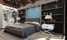 Шале на ЮБК от Витта-групп: интерьер, квартира, дом, спальня, 50 - 80 м2, кантри #interiordesign #apartment #house #bedroom #dormitory #bedchamber #dorm #roost #50_80m2 #country arXip.com