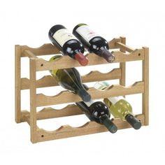 Wenko - Porte bouteilles en bois 12 compartiments : Aussi utile dans la cuisine que dans le garage, ce porte bouteille prend place partout.