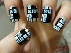 Crossword Puzzle Nails