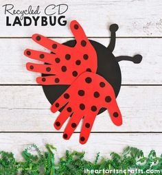 Easy to make ladybug paper plate craft for toddlers and activities