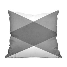Angles Pillow in Black and White