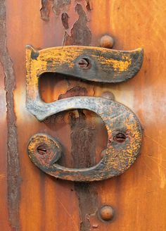 Photo about Grungy number five affixed to rusty industrial metal. Image of vintage, metal, fashioned - 12691665 Rust Never Sleeps, Rust In Peace, Peeling Paint, Rusty Metal, Alphabet And Numbers, Art Abstrait, Mellow Yellow, Texture, Rustic Charm