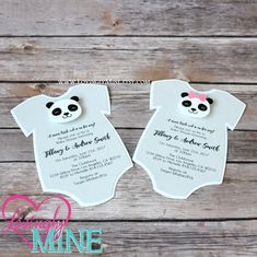 Items similar to Panda Baby Shower Invitations Panda Baby Showers, Baby Panda Bears, Mailing Envelopes, Invitation Wording, Gender Reveal, Baby Bodysuit, Baby Shower Invitations, Card Stock, Groom