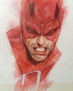 Daredevil by Ben Oliver Comic Book Artists, Comic Artist, Comic Books Art, Comic Character, Character Design, Ben Oliver, Cool Sketches, Marvel Art, Comic Covers
