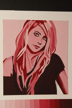 AVRIL. Painting in monochromatic color.