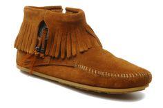 CONCHO/FEATHER BT Minnetonka (Marron) : livraison gratuite de vos Bottines et boots CONCHO/FEATHER BT Minnetonka chez Sarenza