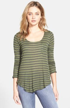 Free shipping and returns on Splendid 'New Haven' Stripe Long Sleeve Tee at Nordstrom.com. Navy-and-white stripes lend nautical flair to a long-sleeve scoop-neck tee finished with a curved hem.
