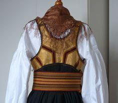 Back vest of Telemark Bunad