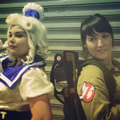 Lady Staypuft and Mrs Venkman back to back at @armageddonexponz Auckland.  #awesomnessness #aucklandgeddon  #cosplay Photos by @behindthethemes  See more at http://ift.tt/1jWpRVP