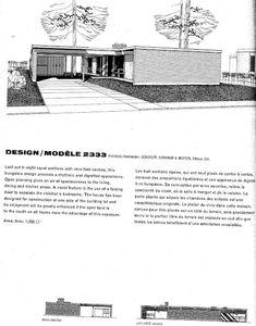 Usonian House, Mansard Roof, Suburban House, Dormer Windows, Gambrel, Flat Roof, Building A House, Mid-century Modern, House Plans