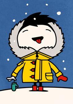 Spencer Wilson - Snow  Tiphaine-illustration  #winter #snow #kids