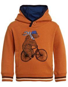 My Design Bradley Bear Hoodie | Orange | Monsoon
