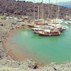nea kameni - volcano - santorini island