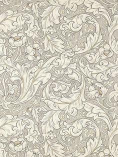 Pure Bachelors Button by Morris - Linen / Coral - Wallpaper : Wallpaper Direct Coral Wallpaper, Linen Wallpaper, Feature Wallpaper, Pattern Wallpaper, Neutral Wallpaper, Stone Wallpaper, Kitchen Wallpaper, William Morris, Arabesque