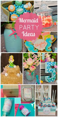 What a lovely Mermaid girl birthday party with so many amazing details!  See more party ideas at CatchMyParty.com!