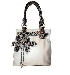 1dbe00843562 Charming Charlie Floral Animal Print Tote Grey