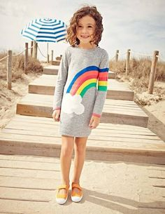 Rainbow Knitted Dress 31847 Day Dresses and Pinnies at Boden