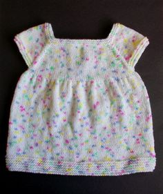 Confetti Cake Baby Dress.  Free Baby Knitting Pattern.  This sweet dress will make those baby toes taste even more delicious.