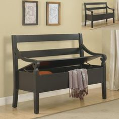 Black Storage Bench | Brian's Furniture