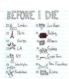 Places to go before I die