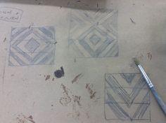 Projet armoire 3 tiroirs Croquis de Laurence Jacquet -étudiante en finition de meubles